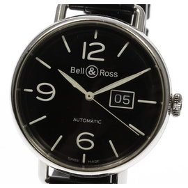 Bell & Ross BRWW1-96 Stainless Steel / Leather Automatic 45mm Mens Watch
