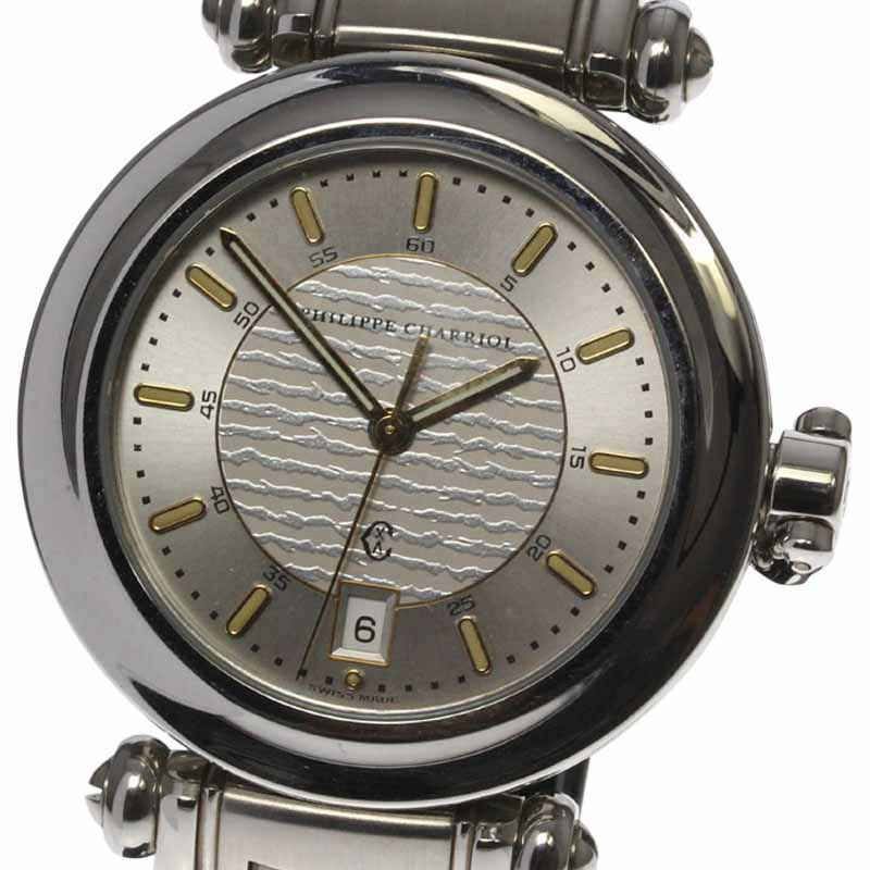 """Image of """"Philippe Charriol Stainless Steel Quartz 35mm Mens Watch"""""""