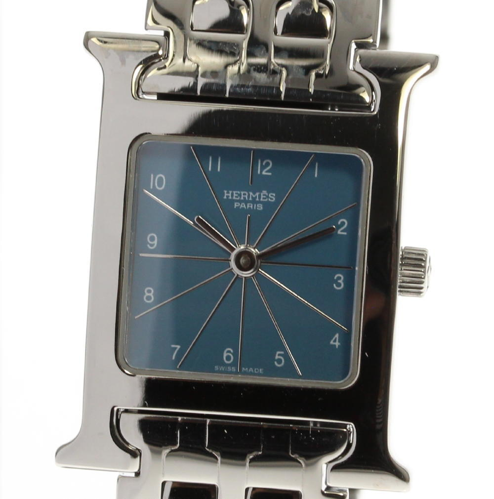 "Image of ""Hermes H Hh1.210 Stainless Steel Quartz 21.5mm Womens Watch"""