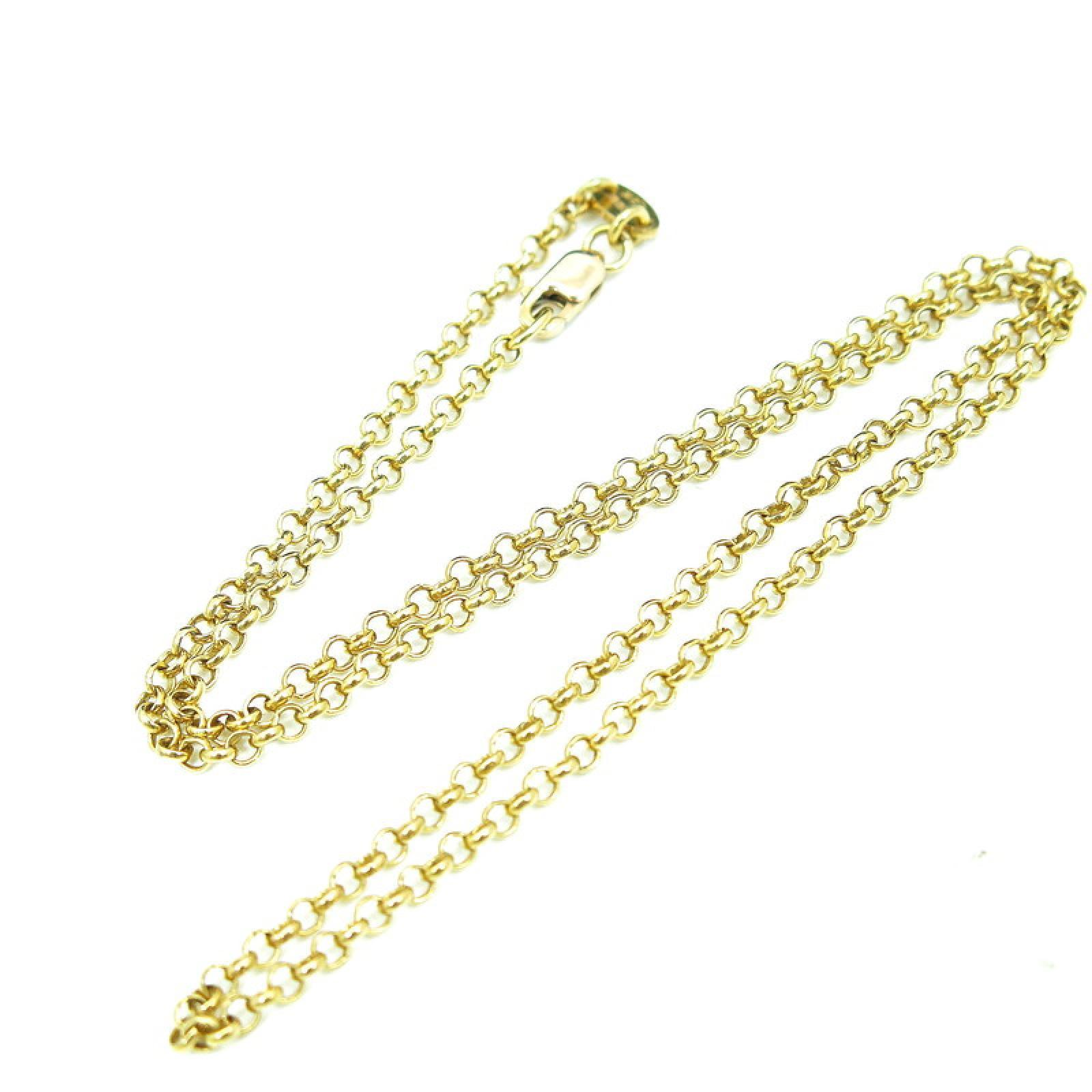 "Image of ""Chrome Hearts 22K Yellow Gold Roll Chain Necklace"""