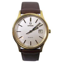 Omega Gold Plated Quartz Vintage 36.2mm Mens Watch 1970's