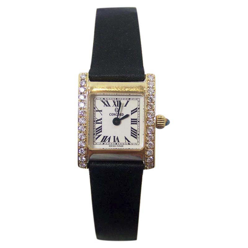 "Image of ""Concord 14K Yellow Gold 0.50ct Diamonds 18mm Womens Watch"""
