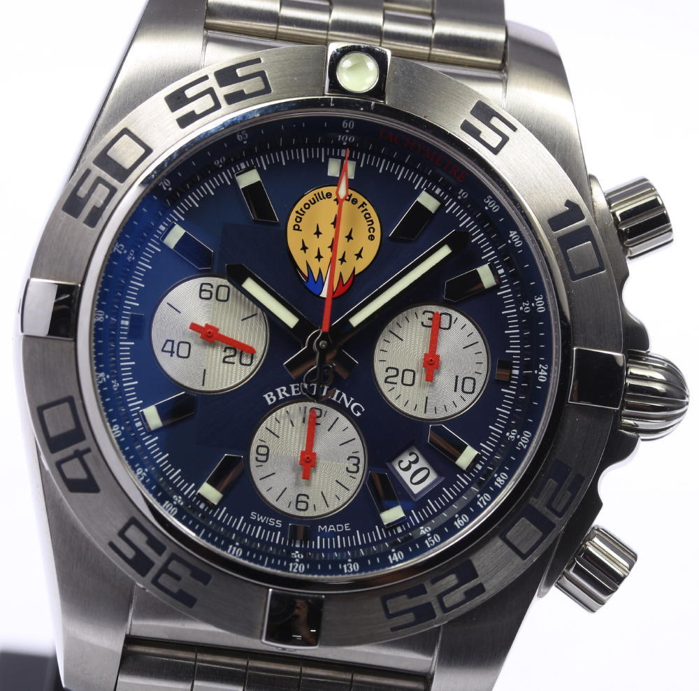 "Image of ""Breitling Chronomat 44 Patrouille De Stainless Steel Automatic 44mm"""
