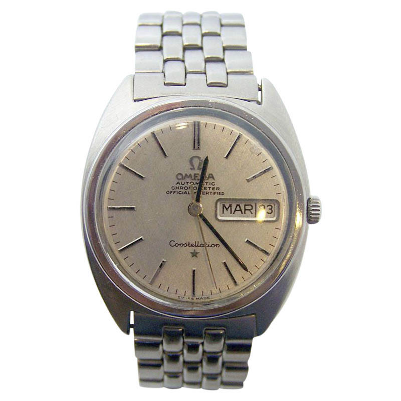 """Image of """"Omega Constellation Stainless Steel Automatic Vintage 33mm Mens Watch"""""""