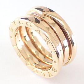 Bulgari 18K Yellow Gold B-ZERO1 3 Band Ring Size 4.75