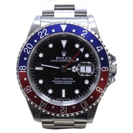 Rolex GMT Master 16700 Stainless Steel Pepsi Blue/Red Bezel Automatic 40mm Mens Watch