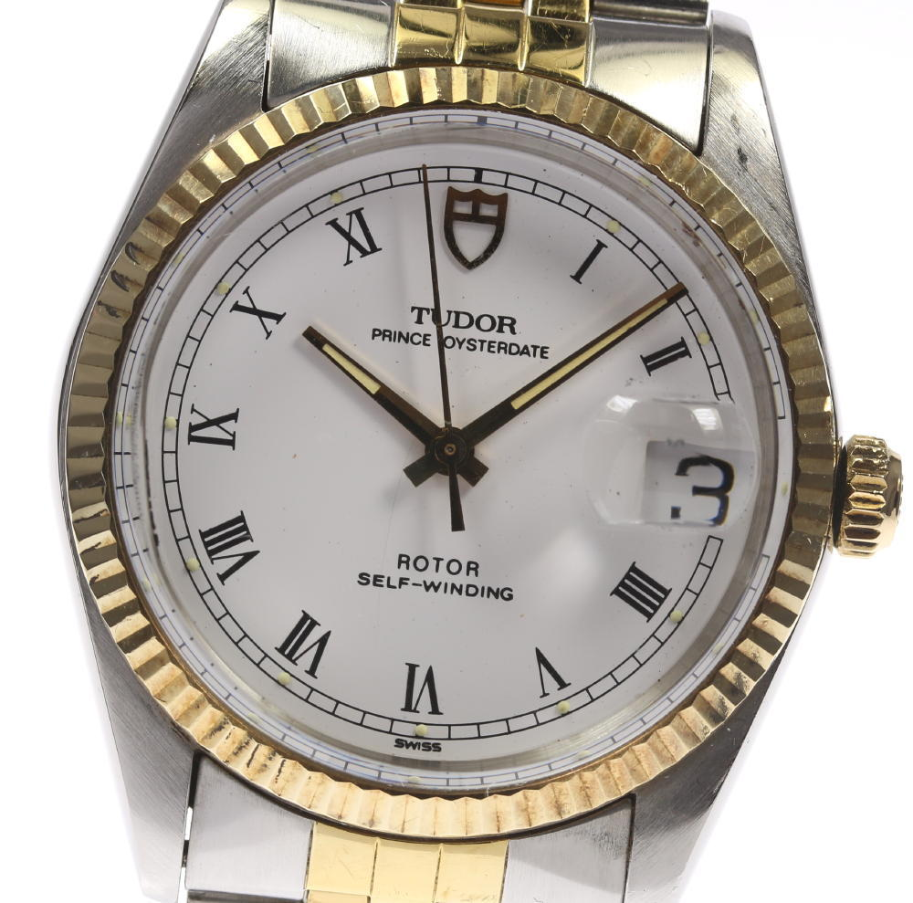"""Image of """"Tudor Prince Oysterdate 75203N Stainless Steel / Gold Plated Automatic"""""""