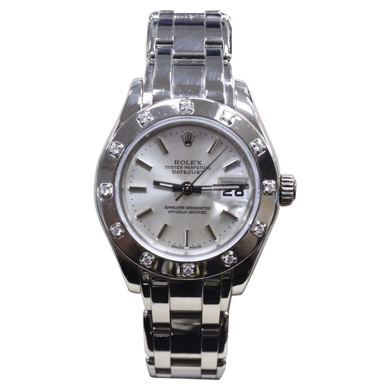 "Image of ""Rolex Pearlmaster 80319 18K White Gold wDiamond Automatic 29mm Womens"""