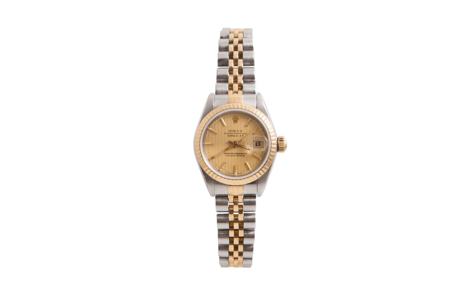 """Image of """"Rolex Datejust 18K White Gold & Stainless Steel with Champagne"""""""