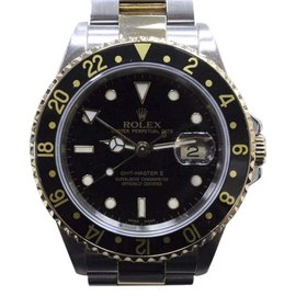 Rolex GMT Master II 16713 18K Yellow Gold & Stainless Steel Black Dial Automatic 40mm Mens Watch