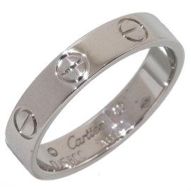 Cartier Mini Love 18K White Gold Ring Size 5