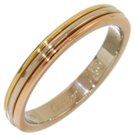 Cartier Trinity 18K Yellow, White & Rose Gold Ring Size 5.75