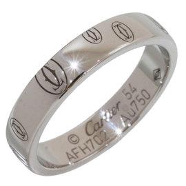 Cartier Happy Birthday 18K White Gold Ring Size 7