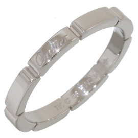 Cartier Mailon Panthere 18K White Gold Ring Size 8.5