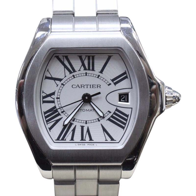 """Image of """"Cartier Roadster 3312 Stainless Steel & Silver Dial 45.6mm Mens Watch"""""""