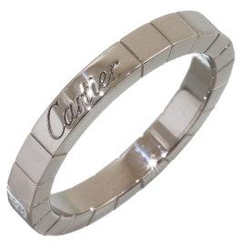 Cartier Lanieres 18K White Gold Ring Size 7