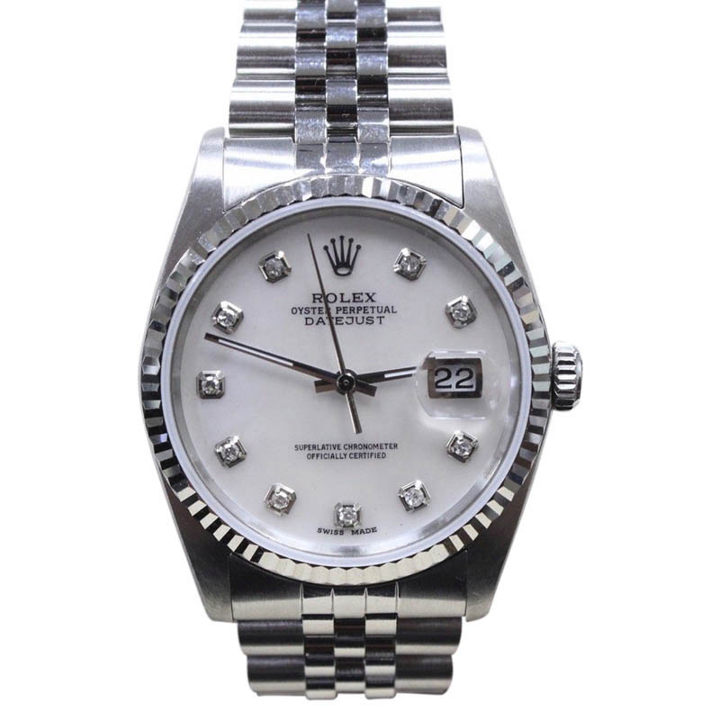 """Image of """"Rolex Datejust 16234 Stainless Steel/18K White Gold Mother of Pearl"""""""