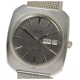 Omega Deville Stainless Steel Automatic 36mm Vintage Mens Watch