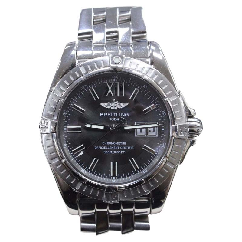 "Image of ""Breitling Galactic A49350 Stainless Steel 41mm Mens Watch"""