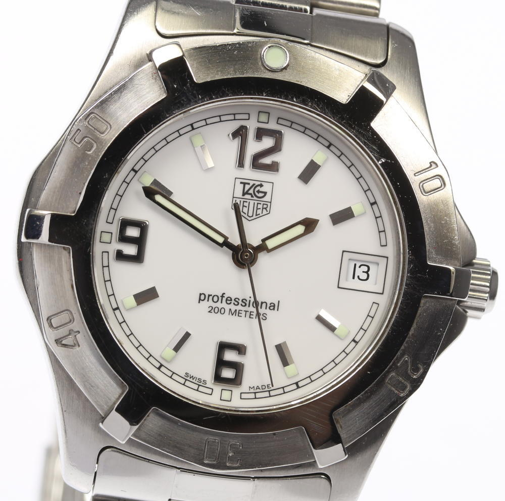 """Image of """"Tag Heuer Exclusive Professional Wn111 Stainless Steel Quartz White"""""""