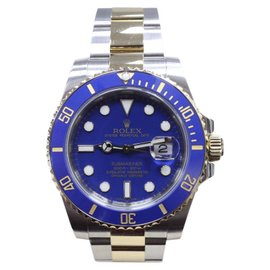 Rolex Submariner 116613 18K Yellow Gold & Stainless Steel Blue Dial 40mm Mens Watch