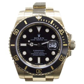 Rolex Submariner 116618 18K Yellow Gold & Black Dial 40mm Mens Watch