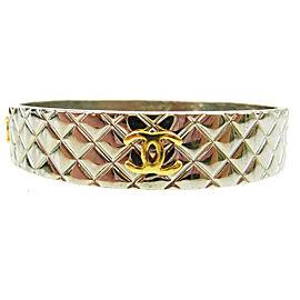Chanel Vintage CC Gold / Silver Tone Hardware Bangle Bracelet
