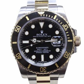 Rolex Submariner 116613 18K Yellow Gold & Stainless Steel/Black Ceramic Automatic 40mm Mens Watch