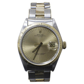 Rolex Date 1512 14K Yellow Gold & Stainless Steel Automatic Vintage 34mm Mens Watch