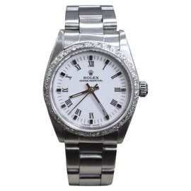Rolex Osyter Perpetual 67480 Stainless Steel & White Dial 31mm Unisex Watch