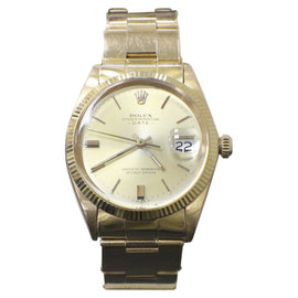 Rolex Date 1501 18K Yellow Gold Automatic Vintage 34mm Mens Watch 1965