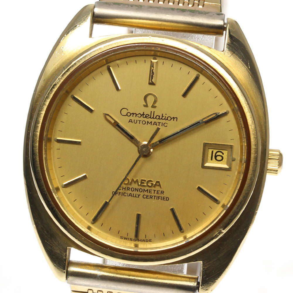 """Image of """"Omega Constellation Stainless Steel / Gold Plated Automatic Gold Dial"""""""