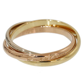 Cartier Trinity de 18K Yellow, White & Rose Gold Bands Ring Size 4.25