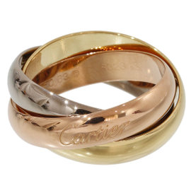 Cartier Trinity de 18K Yellow, Rose & White Gold Ring Size 11.25