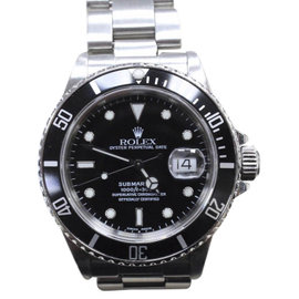 Rolex Submariner 16800 Stainless Steel Black Dial Automatic Vintage 40mm Mens Watch
