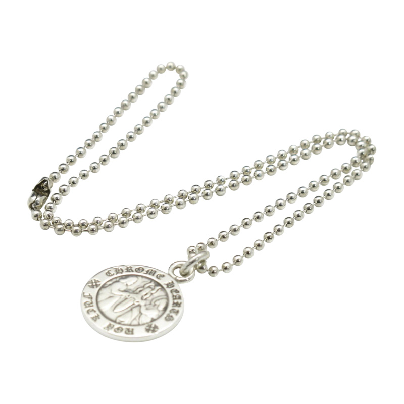 "Image of ""Chrome Hearts 925 Sterling Silver Angel Medal Cham Pendant Necklace"""