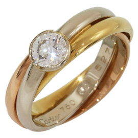 Cartier Trinity de Cartier 18K Yellow, Rose & White Gold Band Ring Size 5.75