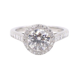 Tiffany & Co. Platinum with 2.27ct Diamond Engagement Ring Size 6