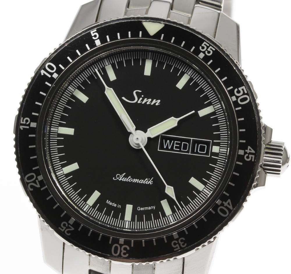 "Image of ""Sinn 104.st.sa Stainless with Black Dial Automatic 41mm Men's Watch"""