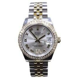 Rolex Datejust 178383 18K Yellow Gold & Stainless Steel wDiamond Automatic 31mm Unisex Watch 2016