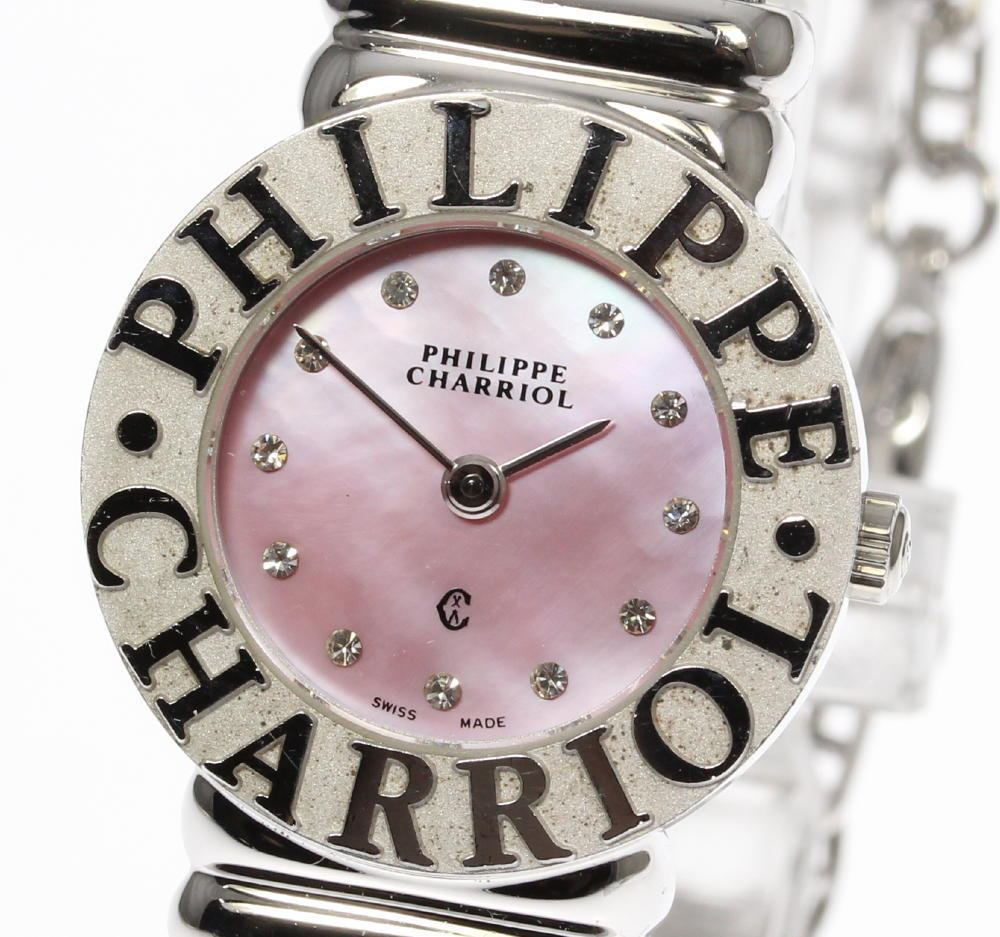 """Image of """"Philippe Charriol 925 Sterling Silver & Stainless Steel with Diamond"""""""