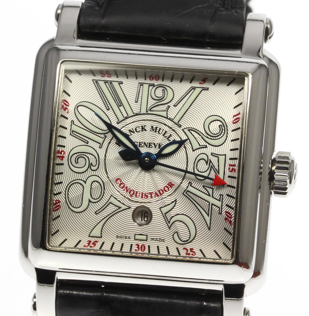 "Image of ""Franck Muller Conquistador 10000Lsc Stainless Steel / Leather"""