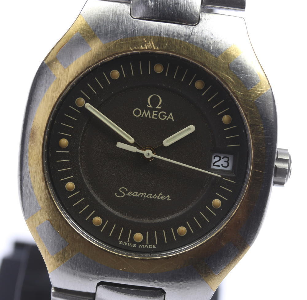 "Image of ""Omega Seamaster Polaris Stainless Steel / Yellow Gold Quartz 31mm Mens"""