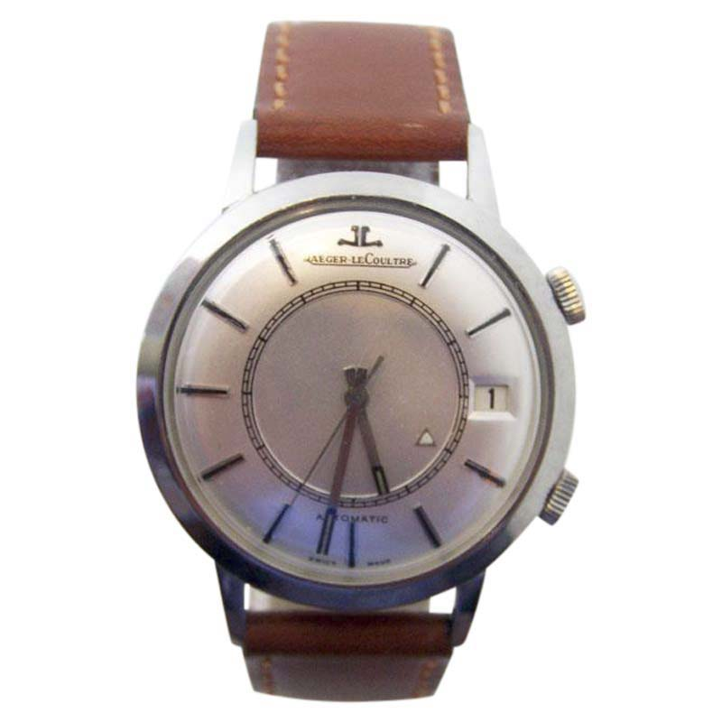 """Image of """"Jaeger-Lecoultre 855 Stainless Steel Automatic Memovox Alarm 37.3mm"""""""