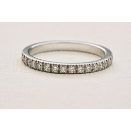 Tiffany & Co. Novo Platinum 0.36ct. Diamond Band Ring Size 5