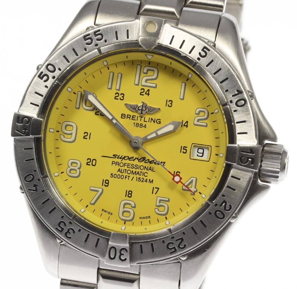 "Image of ""Breitling Super Ocean A17345 Stainless Steel Automatic 41mm Mens Watch"""