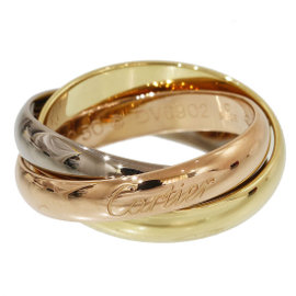 Cartier Trinity de 18K Rose, White & Yellow Gold 3 Band Ring Size 5.5