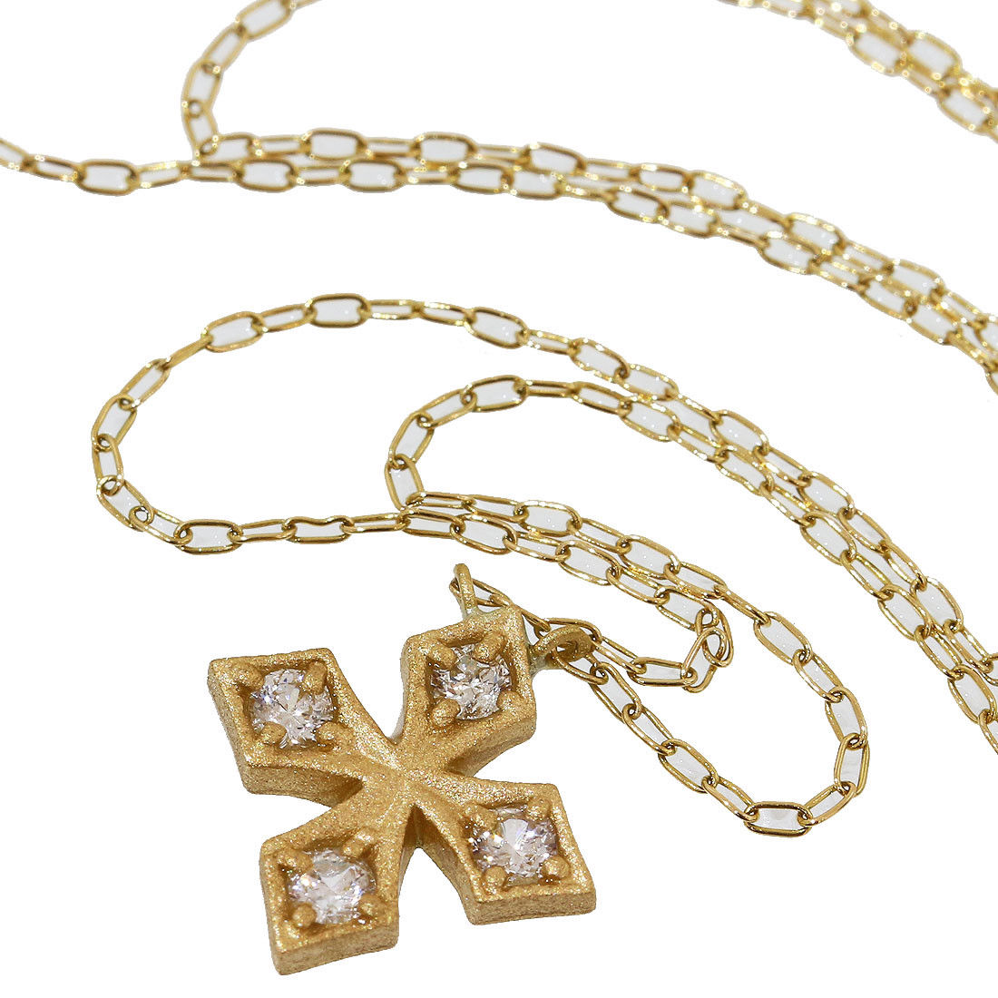 "Image of ""Loree Rodkin 18K Yellow Gold with Diamond Cross Pendant Necklace"""