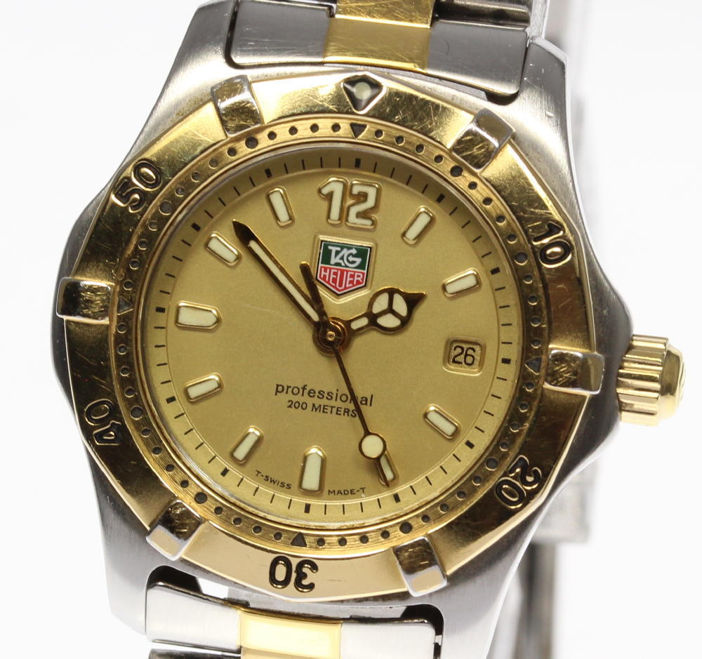 "Image of ""Tag Heuer Professional Wk1321 Gold Plated & Stainless Steel Quartz"""