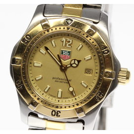 Tag Heuer Professional WK1321 Gold Plated & Stainless Steel Quartz Womens Watch